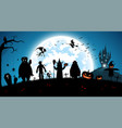 blue backgroundfestival halloween conceptfull vector image vector image