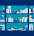 business people and bookshelves concept business vector image vector image