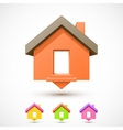 Colorful house pointer vector image vector image