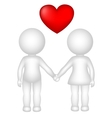 couple in love vector image vector image