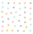 cute colorful kitten pow pattern design vector image vector image