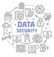 data security linear vector image vector image