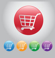 design button buy online web botton and icon cart vector image vector image