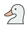 duck head farm animal filled style editable vector image vector image