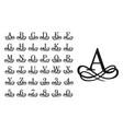 filigree monogram letters vintage logo letter vector image vector image