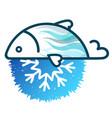 fish frozen fresh symbol vector image vector image