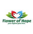 flower hope logo vector image