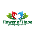 Flower of Hope Logo vector image vector image