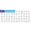 food linear icons set vector image vector image