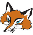 fox head logo mascot vector image vector image