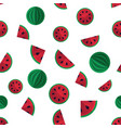 fruity seamless pattern with melons vector image