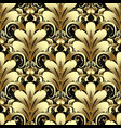 gold 3d damask seamless pattern vector image vector image