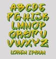 graffiti font 3d - hand written - alphabet vector image vector image