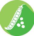 Green Pea Icon vector image vector image