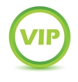 Green vip icon vector image vector image