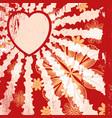 grunge valentine vector image