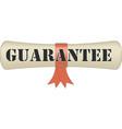 guarantee badge banner vector image