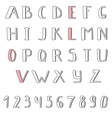 Hand drawn cute alphabet Comic Cartoon Font vector image vector image