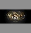 happy new year sale banner vector image vector image