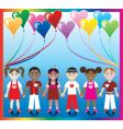 heart balloon kids vector image vector image