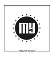 initial letter my logo template design vector image vector image