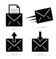 letter envelope black and white vector image vector image