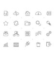 line hosting server and internet icons vector image vector image