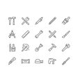 Line Tools Icons vector image vector image