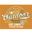 outdoor wild camp vector image vector image