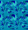 pattern from blue flowers for backgrounds vector image