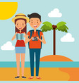 people summer vacations vector image vector image