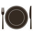 Place setting with plate knife and fork