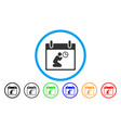 pray time calendar day rounded icon vector image vector image