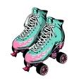 quad roller skates vector image vector image