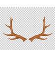 reindeer antlers deer horns realistic logo vector image