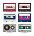 retro audio cassette collection of vector image vector image