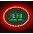 Retro frame circle with neon lights vector image vector image