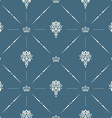 Royal wallpaper seamless pattern with crown and vector image vector image