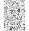 sale doodles set vector image