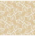 seamless leaves lace pattern on beige background vector image