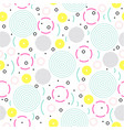 seamless memphis pattern geometric shapes in vector image vector image