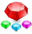 Set of gems in different color vector image vector image