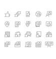 set thumb up feedback line icons like and vector image
