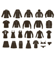 set women s and men s clothing vector image vector image