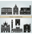 Siena landmarks and monuments vector image vector image