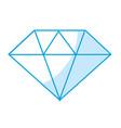 silhouette beautiful gem diamond to luxury use vector image
