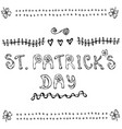 st patriks day lettering poster or card with vector image