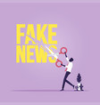 stop fake news and misinformation vector image vector image