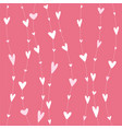 stripy pattern with white hearts on hanging vector image vector image