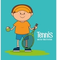 Tennis sport game vector image